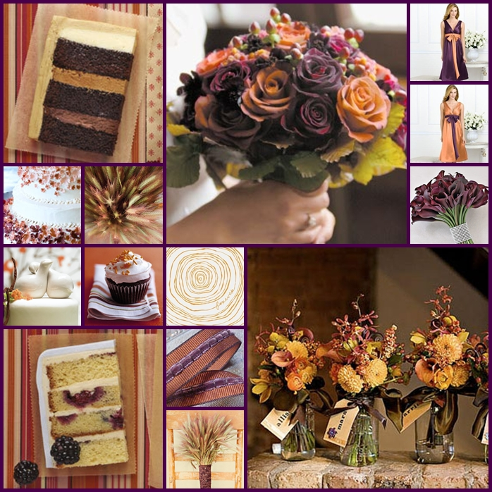 Purple And Brown Wedding Colors You With Purple And Brown Wedding