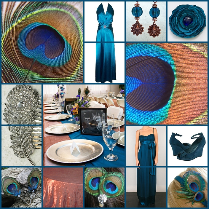 Wedding Themes And Colors: Keen To Be Seen: Peacock Wedding Theme With Copper And