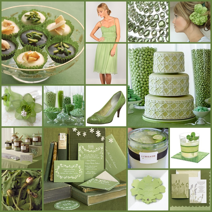 Keen To Be Seen: Pistachio Green Wedding Palette